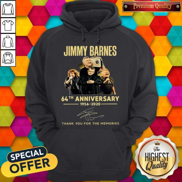 Jimmy Barnes 64th Anniversary 1956 2020 Thank You For The Memories Hoodie