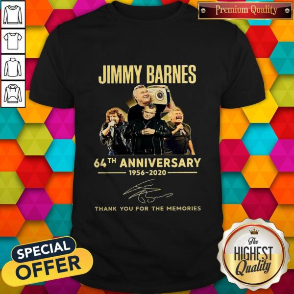 Jimmy Barnes 64th Anniversary 1956 2020 Thank You For The Memories Shirt