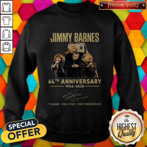 Jimmy Barnes 64th Anniversary 1956 2020 Thank You For The Memories Sweatshirt