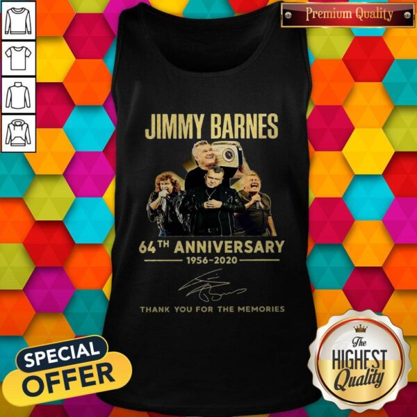 Jimmy Barnes 64th Anniversary 1956 2020 Thank You For The Memories Tank Top