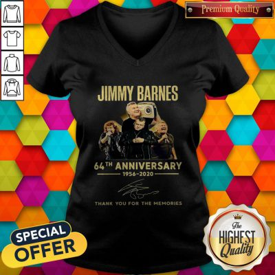 Jimmy Barnes 64th Anniversary 1956 2020 Thank You For The Memories V-neck