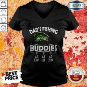 Love Dad's Fishing Buddies Benny Lane Evelyn V-neck