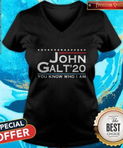 Love John Galt '20 You Know Who I Am V-neck