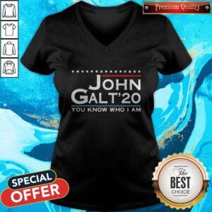 Love John Galt '20 You Know Who I Am V-neck