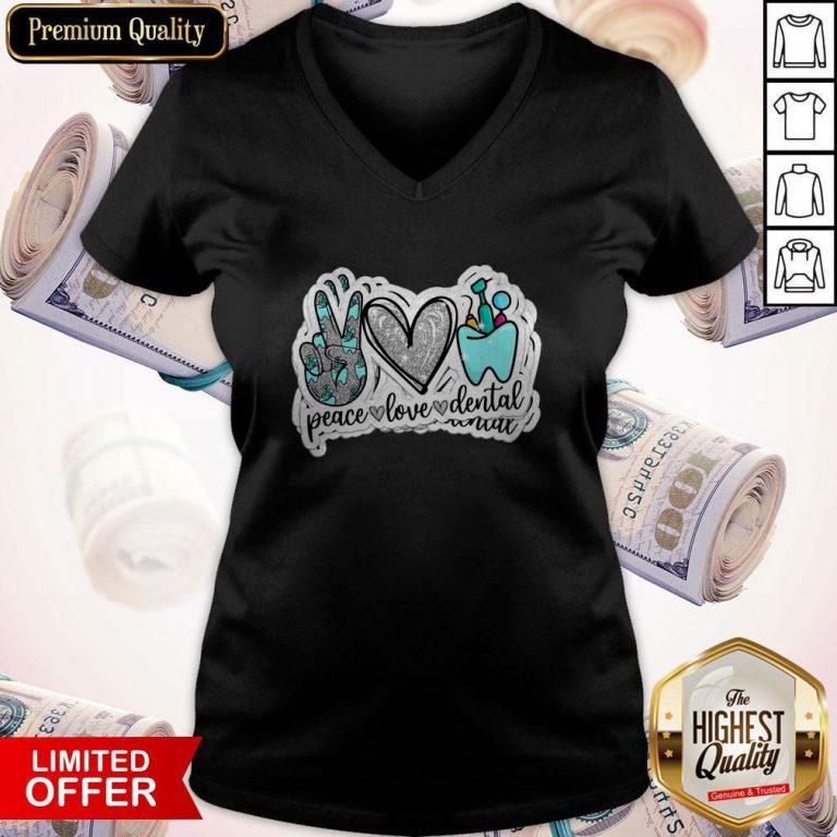 Love Peace Love Dental V-neck