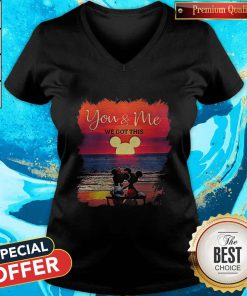 Mickey And Minnie Seeing Sunset You And Me We Got This V-neck