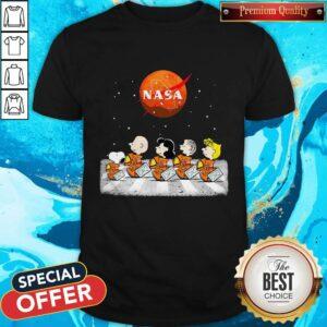 Nice Peanuts Heads Back To Space Nasa Shirt