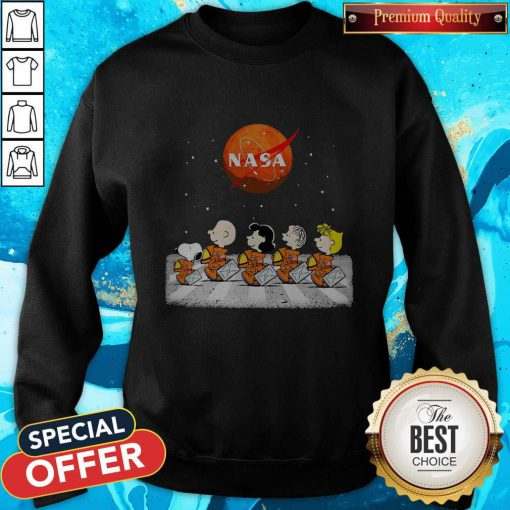 Nice Peanuts Heads Back To Space Nasa Sweatshirt