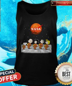 Nice Peanuts Heads Back To Space Nasa Tank Top