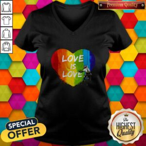 Official LGBT Love Is Love V-neck
