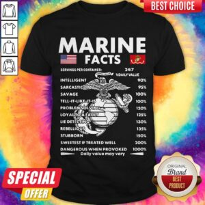 Official Marine Facts Shirt