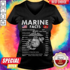 Official Marine Facts V-neck