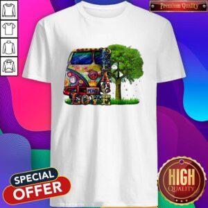 Official Peace Love Hippie Shirt