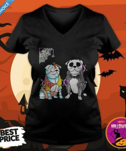 Official The Ghost Dog Halloween V-neck