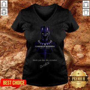 Rip Chadwick Boseman R.I.P To The Black Panther Wakanda Forever V-neck
