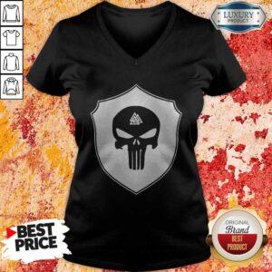 Skull Black Amon Amarth Logo Halloween V-neck