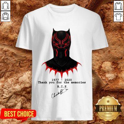 Thank You For The Memories Chadwick Boseman Black Panther Rip 1977-2020 Shirt