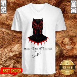 Thank You For The Memories Chadwick Boseman Black Panther Rip 1977-2020 V-neck