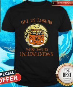Top Bus Peace Cats Get In Losers We're Saving Halloweentown Shirt