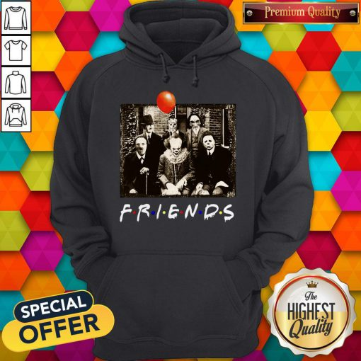 Top Horror Movie Characters Friends TV Show Halloween Hoodie