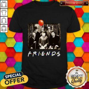 Top Horror Movie Characters Friends TV Show Halloween Shirt
