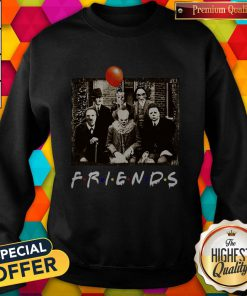 Top Horror Movie Characters Friends TV Show Halloween Sweatshirt