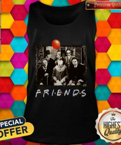 Top Horror Movie Characters Friends TV Show Halloween Tank Top