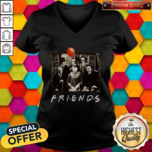 Top Horror Movie Characters Friends TV Show Halloween V-neck