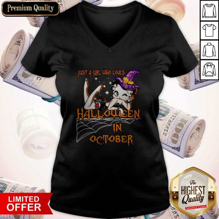Top Just A Girl Who Loves Halloween In October V-neck