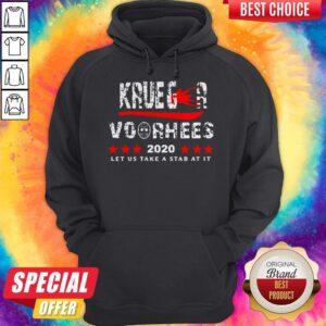 Top Krueger Voorhees 2020 Let Us Take A Stab At It Hoodie