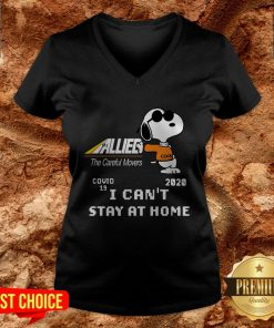 Allied The Careful Movers Snoopy Covid 19 2020 I Can't Stay At Home V-neck
