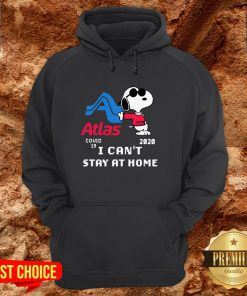 Atlas Snoopy Covid 19 2020 I Can't Stay At Home Hoodie