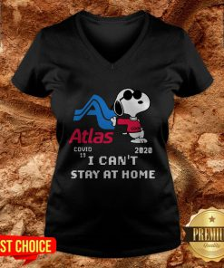 Atlas Snoopy Covid 19 2020 I Can't Stay At Home V-neck