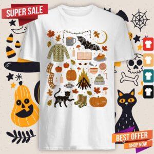 Autumn Nights Day Of The Dead Halloween Shirt