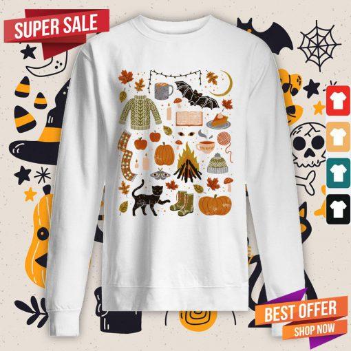 Autumn Nights Day Of The Dead Halloween Sweatshirt