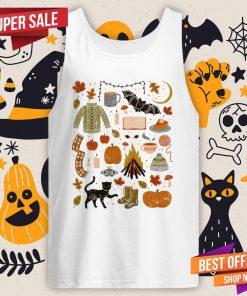 Autumn Nights Day Of The Dead Halloween Tank Top