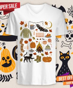 Autumn Nights Day Of The Dead Halloween V-neck