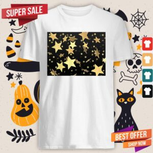Black And Gold Star Merchandise Day Of The Dead Shirt