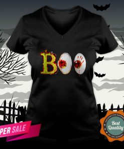 Boo Day Of The Dead Dia De Muertos Halloween V-neck