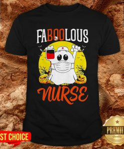 Boo Ghost Faboolous Nurse Halloween Shirt