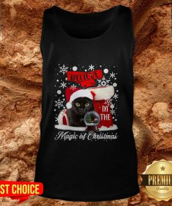 Cat Believe In The Magic Of Christmas Tank Top