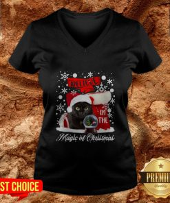 Cat Believe In The Magic Of Christmas V-neck