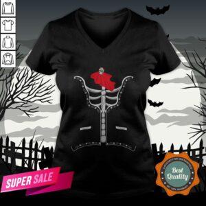 Day Of The Dead Costume El Dia De Los Muertos Halloween V-neck