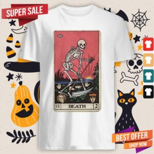 Death Tarot Skeleton Day Of The Dead Dia De Muertos Shirt