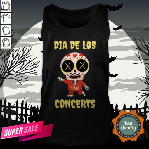 Dia De Los Concerts Day Of The Dead Sugar Skull Tank Top