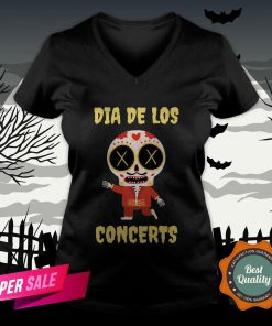 Dia De Los Concerts Day Of The Dead Sugar Skull V-neck