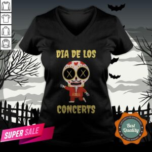 Dia De Los Concerts Day Of The Dead Sugar Skull V-neck
