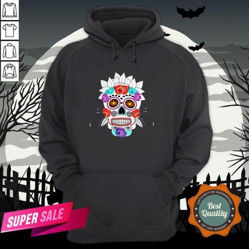 Fun Bright Trendy Sugar Skull Dia De Los Muertos Day Of The Dead Hoodie