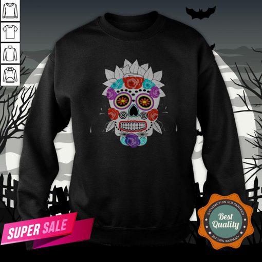 Fun Bright Trendy Sugar Skull Dia De Los Muertos Day Of The Dead Sweatshirt