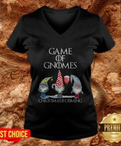 Game Of Gnomes Christmas Is Coming V-neck
